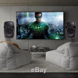 15 Inch Powered Active Speakers Pair with Stand 3000 Watt 2 Way Party Dj PA Music