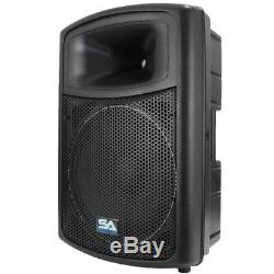2 POWERED 15 SEISMIC AUDIO PA SPEAKERS Active DJ Band