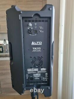 2 x Alto TX215 15 600W Active PA Powered Pair Speakers + Stands Bag Leads UK