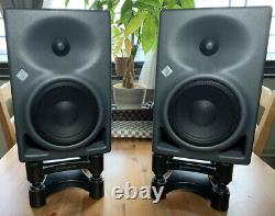 2x Neumann KH120A Active Speaker Pair Powered Studio Monitors with 2 isoACOUSTICS