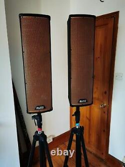 ALTO PA Trouper Active Powered Bluetooth column Speakers PAIR and stands