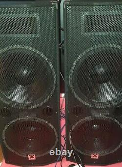 Active Powered PA Speakers (Pair) with Bluetooth Dual 15 DJ Sound System 1600w