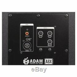 Adam A8X (Pair) 8 Active Powered DJ Studio Monitor Speakers, Pro Pads & Cables