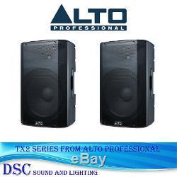 Alto Tx208 300 Watt Active 8 Powered Dj Disco Band Amplified Speakers (pair)