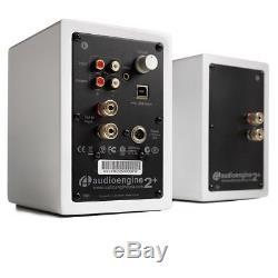 Audioengine A2+ Premium Powered Active Speakers (PAIR) Gloss White NEW