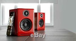 Audioengine A2+ Wireless Bluetooth Powered Active Speakers (PAIR) Gloss Red- NEW