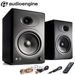 Audioengine A5+ Pair of Premium Powered Active Speakers Satin Black + Remote