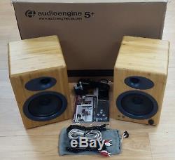 Audioengine A5+ Premium Active Powered Speakers (Pair) BAMBOO OPEN-BOX#