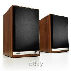 Audioengine HD6 Wireless Active Powered Stereo Speakers (Pair) Bluetooth Walnut