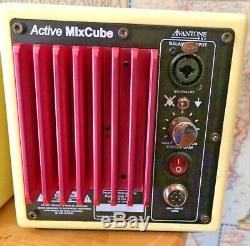 Avantone Active MixCubes 5.25 Inch Powered Studio Monitor Retro Cream (Pair)