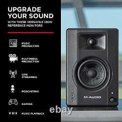 BX3 120-W Powered Desktop Computer Speakers / Studio Monitors for