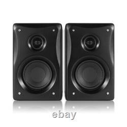 BX40 Active Powered Studio Monitor Speakers 4 Multimedia DJ (Pair) & Stands
