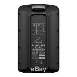 Behringer Eurolive B112D 1000W 12 PA Powered Speakers, PAIR (2 pcs)
