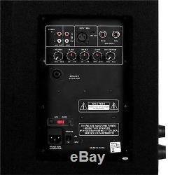 DJ Speakers PA Active Monitor Pair 2x Powered 12 1100W Portable Stage Party