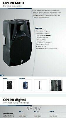 Db Technologies Opera 602d Active Powered dj Band 12 2way Speakers (Pair Of)