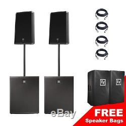 EV Electrovoice Pair ZLX12P ELX118P Active Powered PA System Speakers Subwoofers