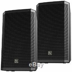 EV ZLX15P 15 in 2 Way Powered DJ PA Speakers Pair