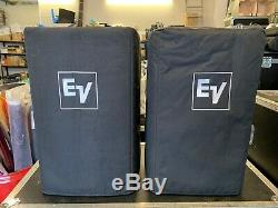 Electro-Voice EV ELX112P 12 Powered Speaker / Active Monitor with Cases (PAIR)