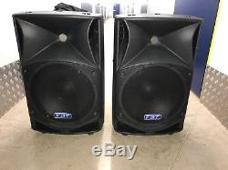 FBT ProMaxX 14a PAIR Active Powered Speakers + padded covers. GOOD CONDITION