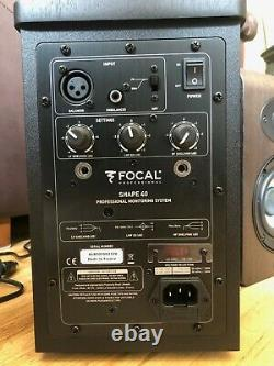 Focal Shape 40 4 inch Powered Studio Monitor. (PAIR)