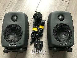 Genelec 6010A Active Monitor Speakers PAIR Includes Stands and Power Cables