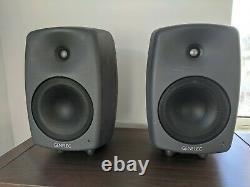 Genelec 8040a Active Studio Monitors (Pair) + Power Cables