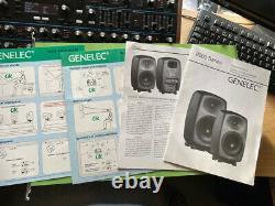 Genelec 8040a Active Studio Monitors (Pair) + Power Cables Excellent Condition