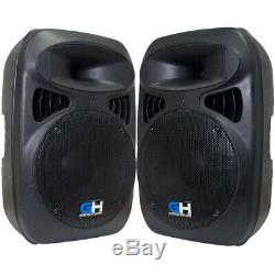 Grindhouse Pair of Active 12 Inch Powered DJ PA Loudspeakers 1000 Watts RMS