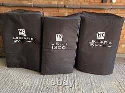 HK Audio active dj speakers a pair Plus Sub Plus Covers and power leads