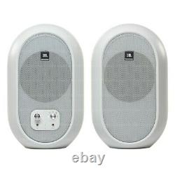 JBL 104SET-BTW Pair Compact Powered Active Studio Reference Monitors BT White