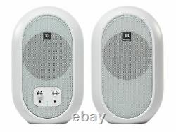 JBL 104SET-BTW Pair Compact Powered Active Studio Reference Monitors Bluetooth