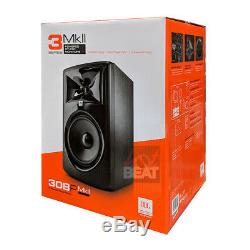 JBL 308P MkII Powered 8 2-Way Studio Monitor Reference Speakers 110-240V, PAIR