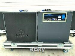 JBL AXYS B-07 18 700W SELF POWERED SUB-WOOFERS WithRD CASE & PWR CORD (PAIR)