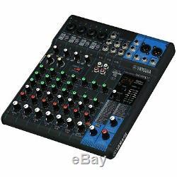 JBL EON615 15 Powered DJ PA Loud Speakers Pair with Yamaha MG10XU Mixer Package