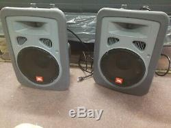 JBL EON Power 10 Powered Sound Speakers Pair of 2 with power cords