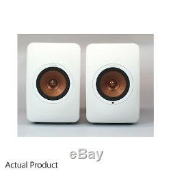 KEF LS50 Wireless Speakers Active Powered Bluetooth Pair White Copper RRP £1999