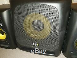 KRK 10S Sub Woofer 10 Studio Monitor Pair Rokit 6 RPG2 PHONO POWER LEADS STAND
