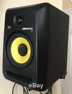 KRK ROKIT 6 G3 6 Powered Studio Monitor Speakers Black (Pair) Cables Included