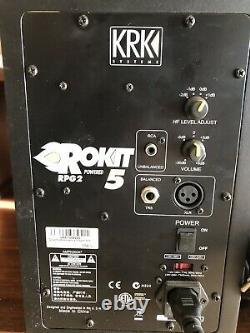 KRK RPG2 ROKIT 5 Powered Speaker Pair Included Power Cords Tested Working Great