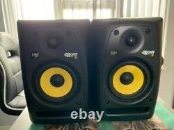 KRK Rokit 5 G2 Powered Studio Monitors (Pair), Black, Yellow, woofer, tweeter