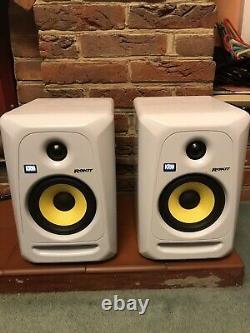 KRK Rokit 5 RP5G3W-UK Limited Edition WHITE Powered Studio Monitor Speakers Pair
