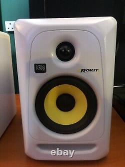 KRK Rokit 5 RP5 G3 White Powered Studio Monitor Pair