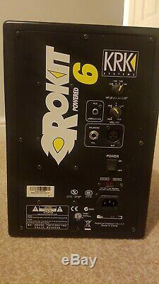 KRK Rokit 6 RP6 G1 Black Active Powered Studio Monitor 6 inch Used Pair