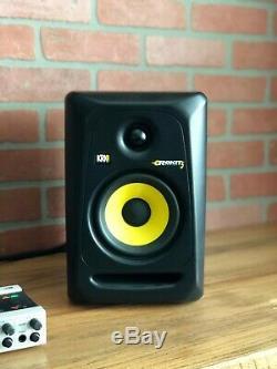 KRK Rokit Powered RP5G3 5 Monitor Speaker Black (Pair) + Two 3 ft. XLR Cables