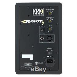 KRK Rokit RP5G3 5 Powered Monitors Pair + M-Audio Recording Interface Package