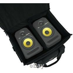 KRK Rokit RP5G3 5 Powered Studio Monitor Speakers Pair XLR/TRS Cables Bag
