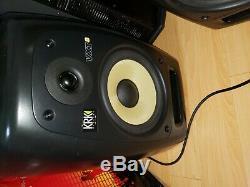 KRK VXT8 Active Powered 8 Studio Monitor Speaker (Pair, Black)