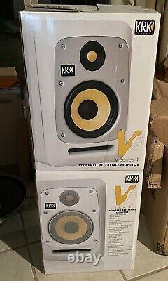 KRK V-Series V6 S4 Powered Monitor, White, Speaker Pair (Stereo)