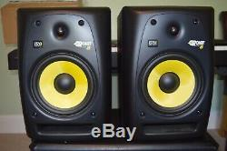 KRK pair of Rokit 8 powered monitor speakers. Mint condition
