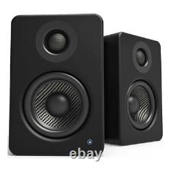 Kanto Audio Yu2 Powered Desktop Speakers PAIR Black Active PC Mac USB